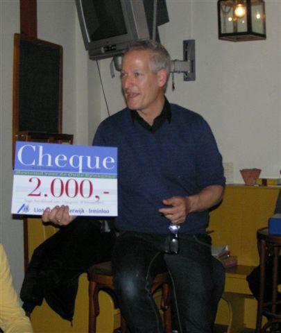 Cheque Lions Club Harderwijk
